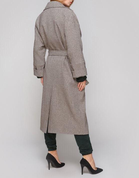 Двубортное пальто из шерсти AY_2849, фото 4 - в интеренет магазине KAPSULA