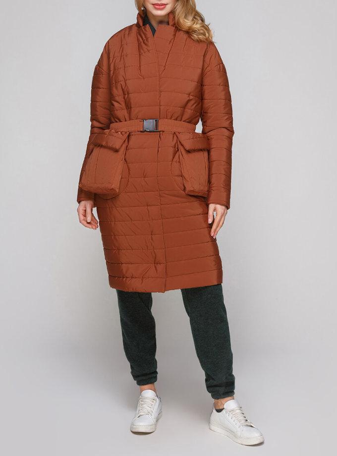 Утепленное пальто с поясом AY_2853_outlet, фото 1 - в интернет магазине KAPSULA