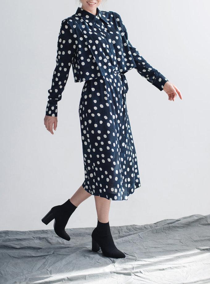 Платье-рубашка с поясом CYAN_DS_M01, фото 1 - в интернет магазине KAPSULA