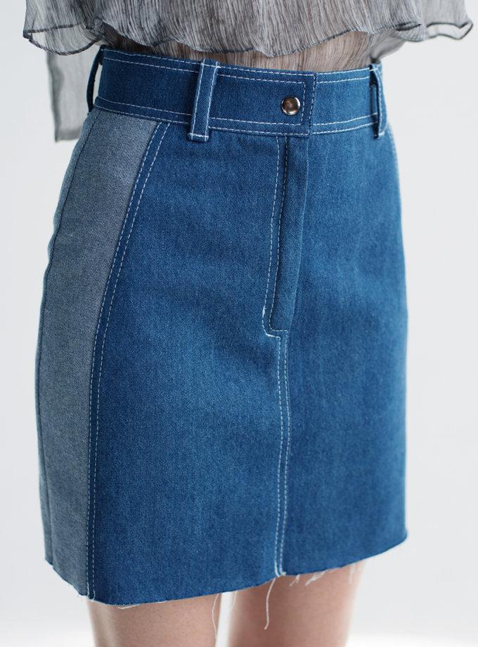 Джинсовая юбка мини CYAN_ST_M02, фото 1 - в интернет магазине KAPSULA