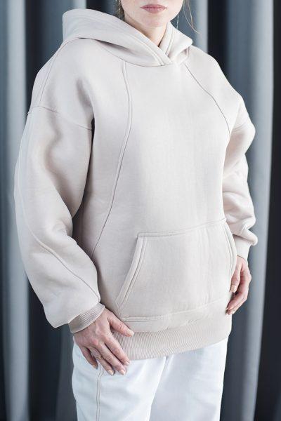 Утеплённый худи из хлопка CYAN_TP_M03, фото 1 - в интеренет магазине KAPSULA