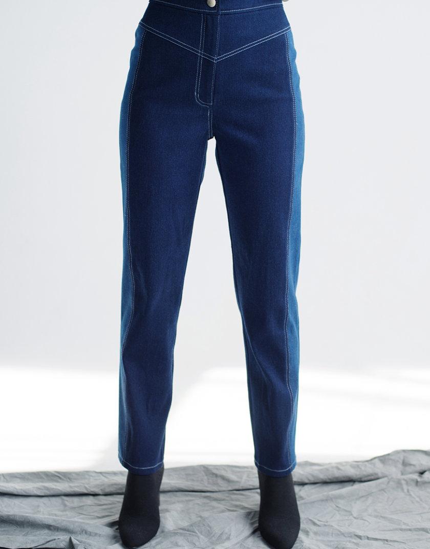 Прямые джинсы на высокой посадке CYAN_TR_M02, фото 1 - в интернет магазине KAPSULA