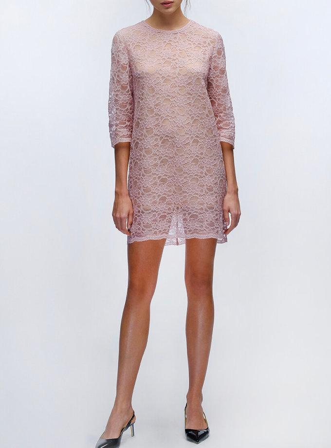 Коктельное платье на подкладке MISS_DR-007-pink_outlet, фото 1 - в интернет магазине KAPSULA