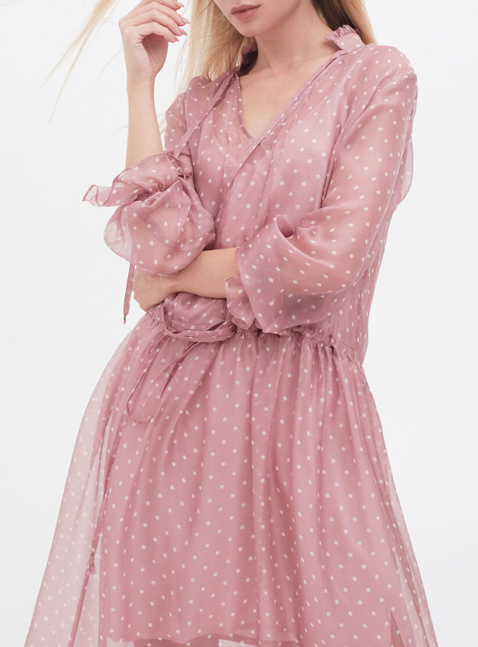Шифоновое платье в стиле бохо MISS_DR-018-pink, фото 1 - в интернет магазине KAPSULA