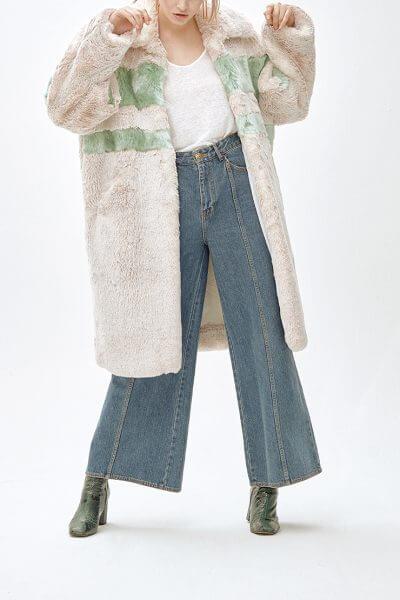 Пальто из искусственного меха  ANGIE MLL_MW9WCT01Xg_outlet, фото 4 - в интеренет магазине KAPSULA