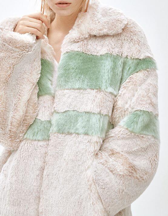 Пальто из искусственного меха  ANGIE MLL_MW9WCT01Xg_outlet, фото 5 - в интеренет магазине KAPSULA