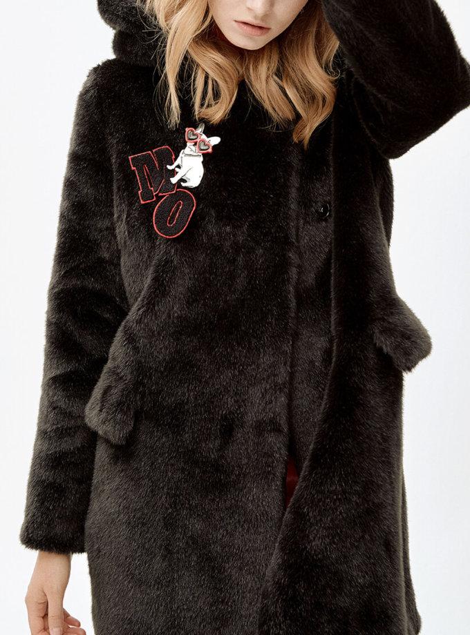 Пальто с брошкой LIU MLL_MW9WCT04X_outlet, фото 1 - в интеренет магазине KAPSULA