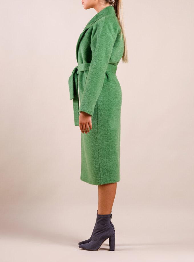Пальто утепленное из шерсти MMT_024.-kiwi, фото 1 - в интернет магазине KAPSULA