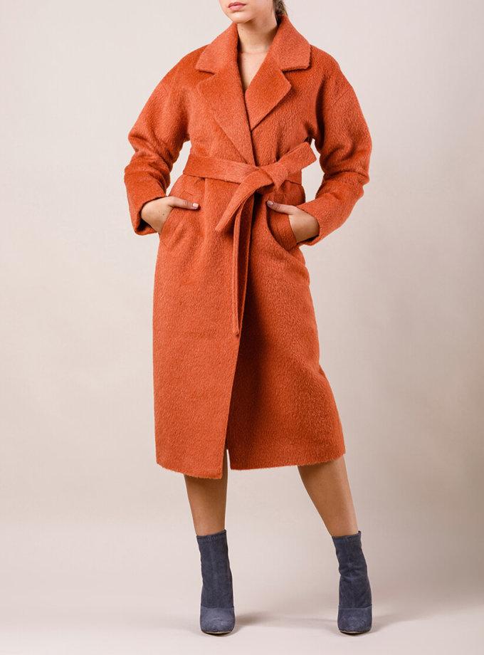 Пальто утепленное из шерсти MMT_024.-terracota, фото 1 - в интернет магазине KAPSULA