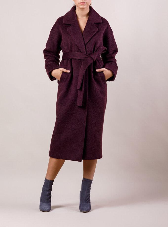 Пальто утепленное из шерсти MMT_024.-blackberry, фото 1 - в интернет магазине KAPSULA
