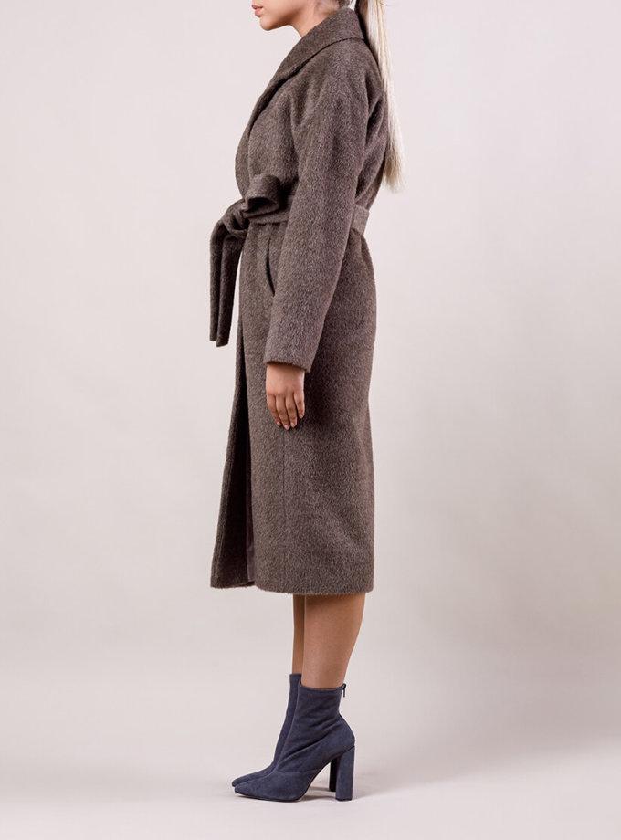 Пальто утепленное из шерсти MMT_024.-nuts, фото 1 - в интернет магазине KAPSULA