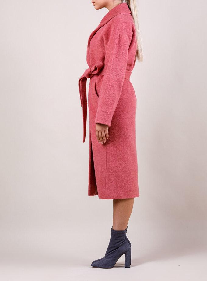 Пальто утепленное из шерсти MMT_024.-coral, фото 1 - в интернет магазине KAPSULA