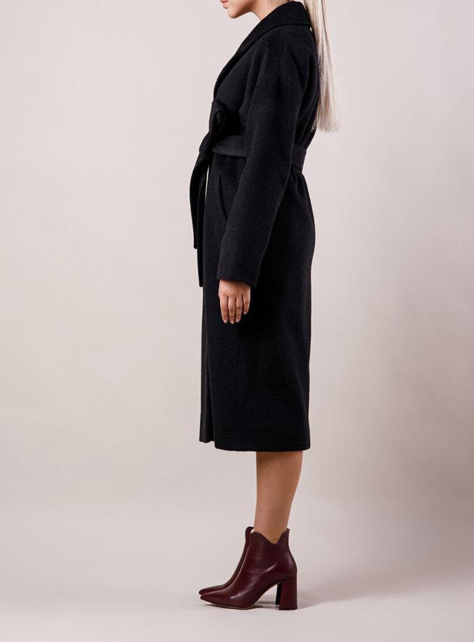 Пальто утепленное из шерсти MMT_024.-black, фото 1 - в интернет магазине KAPSULA