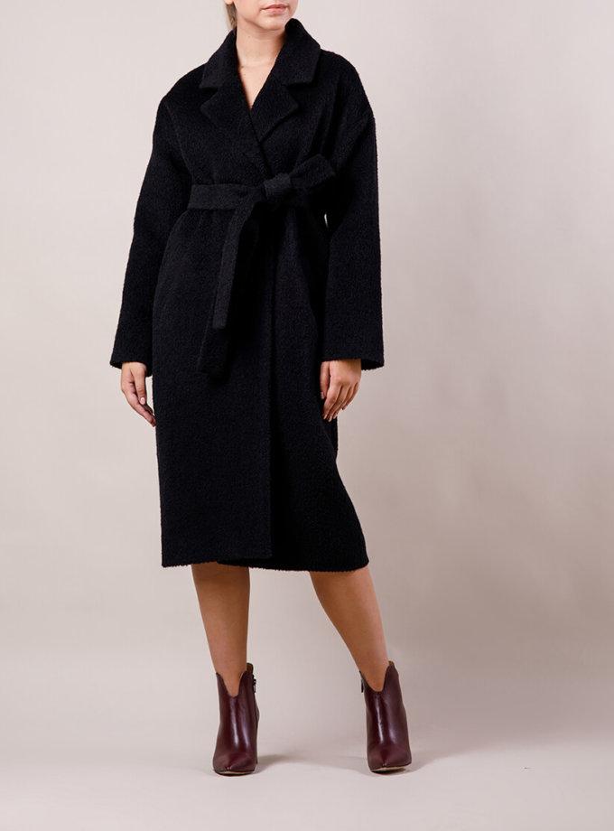 Пальто из шерсти букле MMT_024.-booked of black, фото 1 - в интеренет магазине KAPSULA