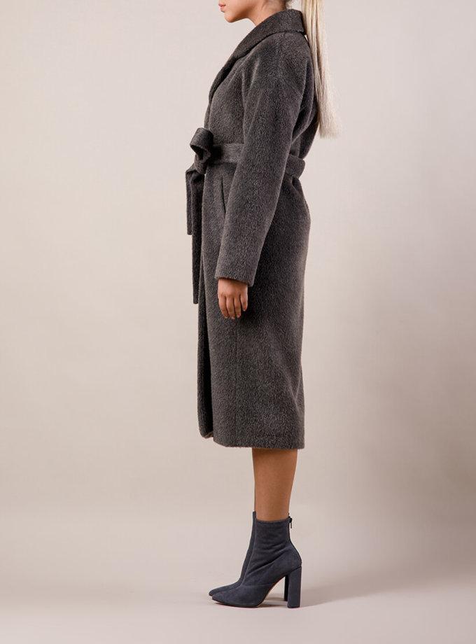 Пальто утепленное из шерсти MMT_024.-darck gray, фото 1 - в интернет магазине KAPSULA