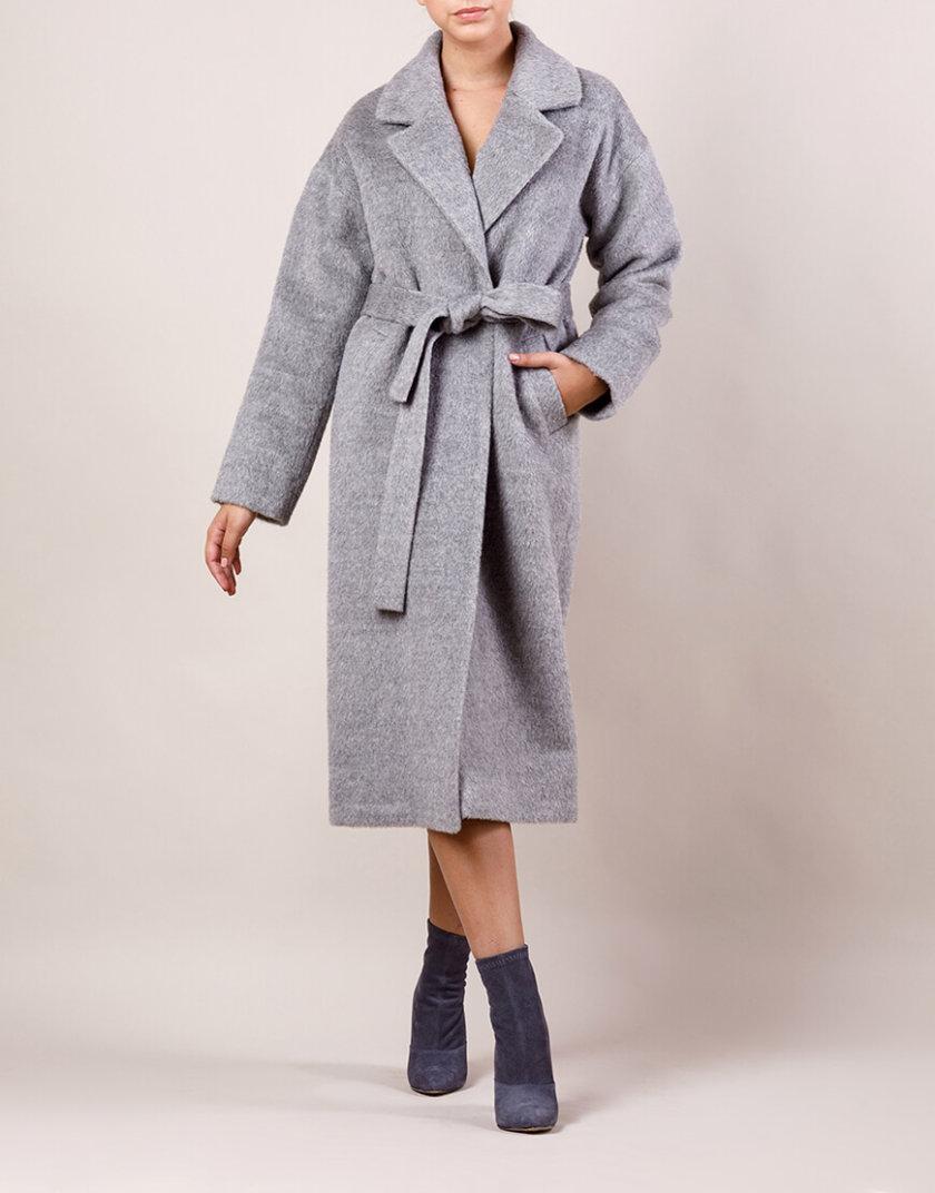 Пальто утепленное из шерсти MMT_024.-light gray, фото 1 - в интернет магазине KAPSULA