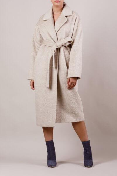 Пальто утепленное из шерсти MMT_024.-sand, фото 3 - в интеренет магазине KAPSULA