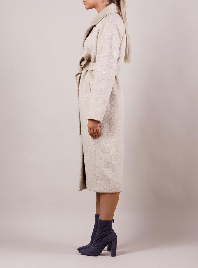 Пальто утепленное из шерсти MMT_024.-sand, фото 1 - в интернет магазине KAPSULA