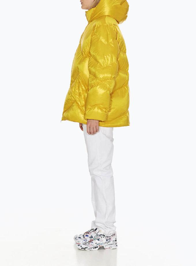 Пуховик укороченный Leia yellow MRCH_MO-01-Y_outlet, фото 1 - в интеренет магазине KAPSULA