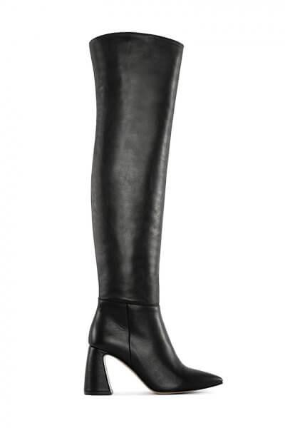 Кожаные ботфорты BLACK MRSL_722402, фото 4 - в интеренет магазине KAPSULA