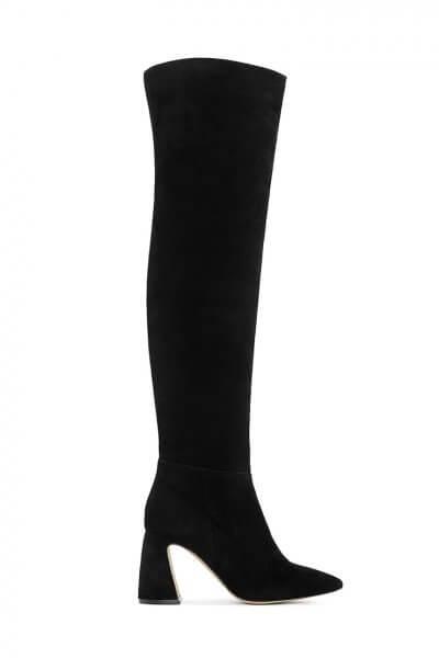 Замшевые ботфорты BLACK MRSL_722412, фото 1 - в интеренет магазине KAPSULA