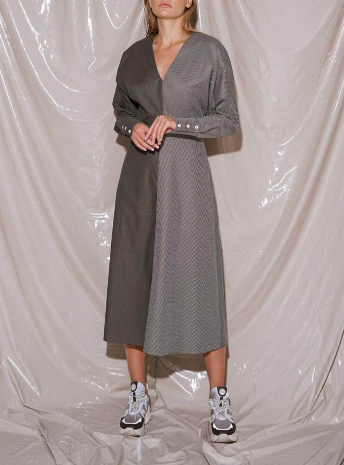 Хлопковое платье миди NVL_Fw19_3, фото 1 - в интернет магазине KAPSULA