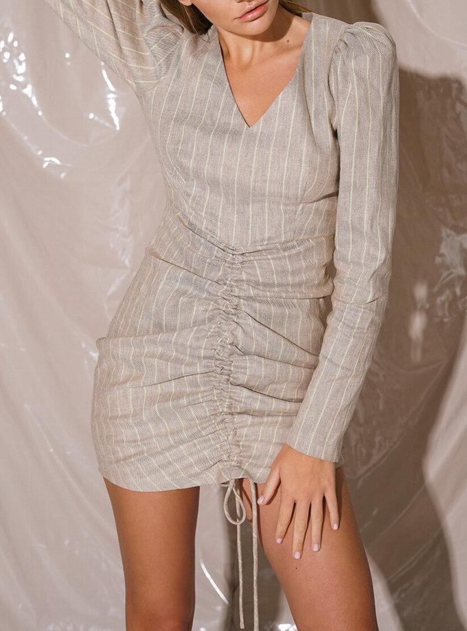 Хлопковое платье мини на кулиске NVL_Fw19_5, фото 1 - в интернет магазине KAPSULA