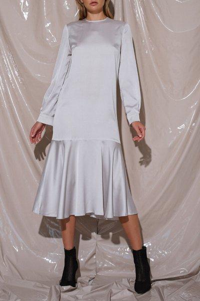 Шелковое платье миди NVL_Fw19_6, фото 4 - в интеренет магазине KAPSULA
