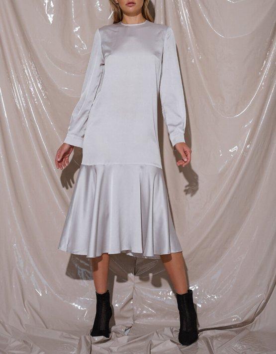 Шелковое платье миди NVL_Fw19_6, фото 3 - в интеренет магазине KAPSULA