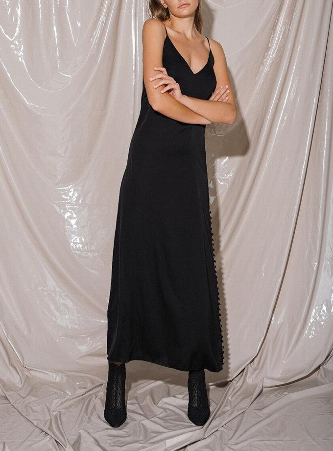 Шелковое платье макси с разрезом NVL_Fw19_7, фото 1 - в интеренет магазине KAPSULA