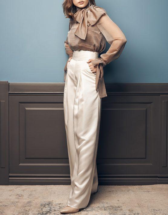 Полупрозрачная блуза из шелка SOL_SOW2019B09, фото 4 - в интеренет магазине KAPSULA