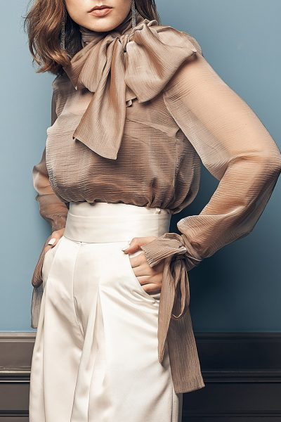 Полупрозрачная блуза из шелка SOL_SOW2019B09, фото 2 - в интеренет магазине KAPSULA
