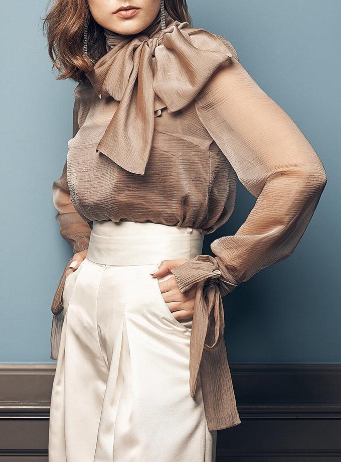 Полупрозрачная блуза из шелка SOL_SOW2019B09, фото 1 - в интернет магазине KAPSULA