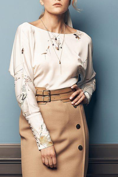 Блуза с принтом SOL_SOW2019B10, фото 4 - в интеренет магазине KAPSULA