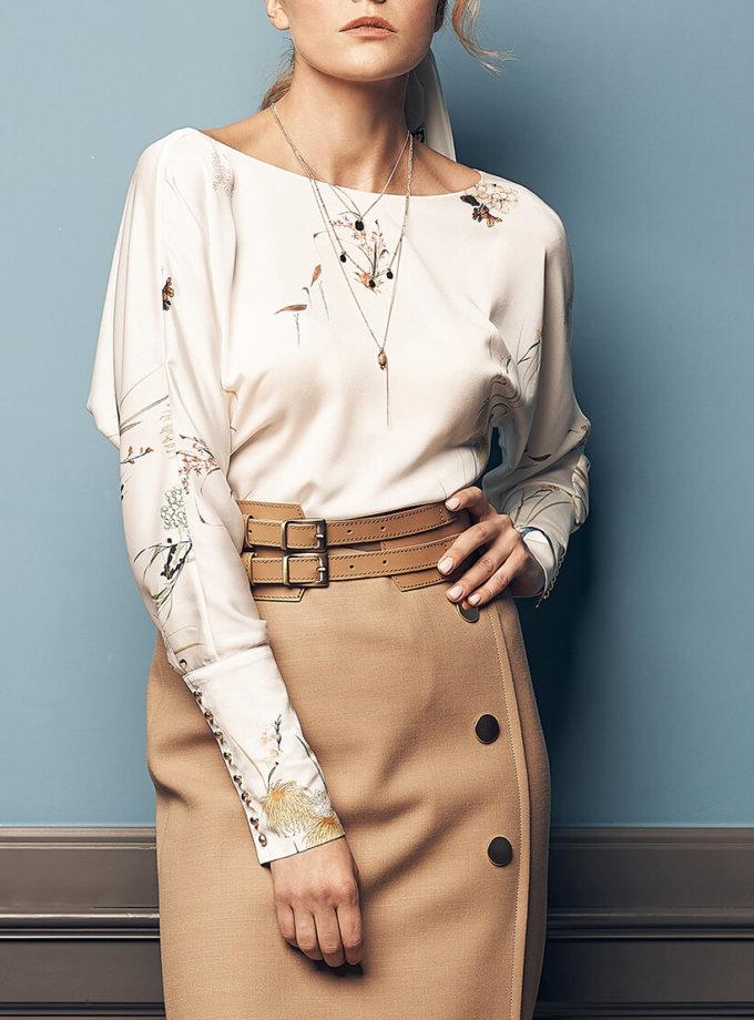 Блуза с принтом SOL_SOW2019B10, фото 1 - в интеренет магазине KAPSULA