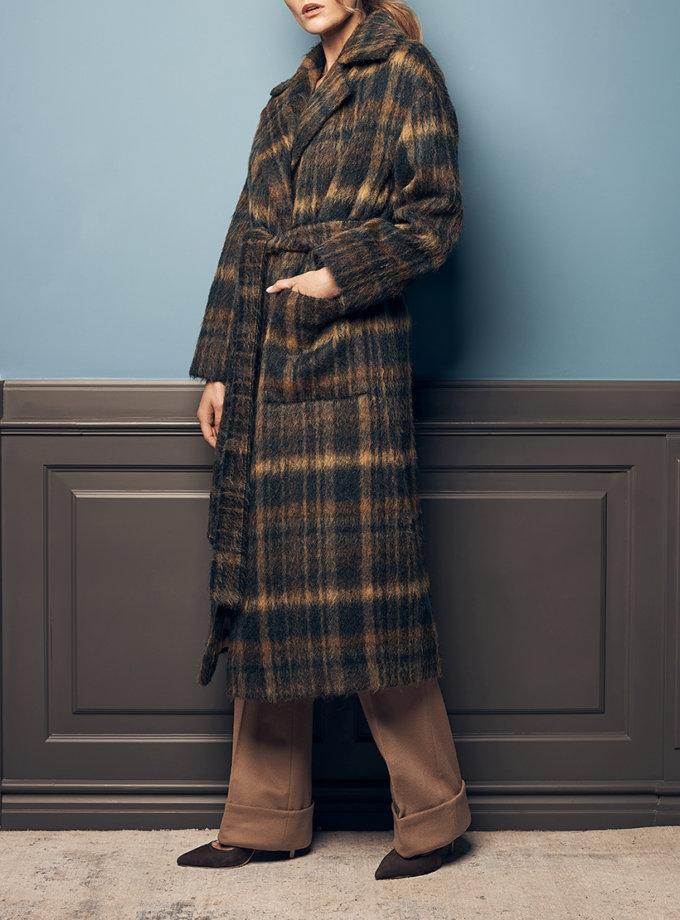 Пальто с поясом из альпаки SOL_SOW2019C09, фото 1 - в интернет магазине KAPSULA
