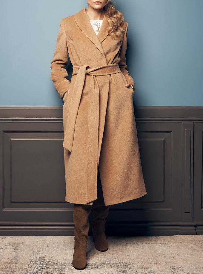Пальто на запах из альпаки SOL_SOW2019C10, фото 1 - в интеренет магазине KAPSULA