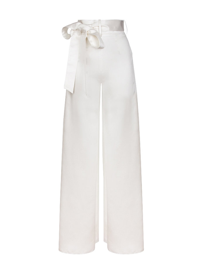 Широкие брюки со складкой SOL_SOW2019T05_outlet, фото 1 - в интернет магазине KAPSULA