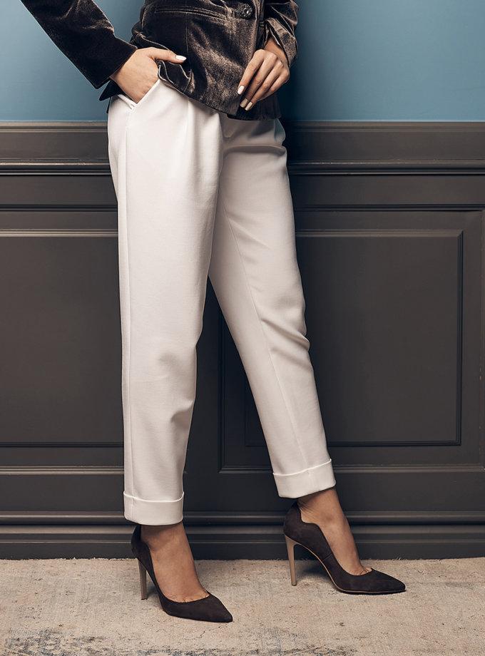 Хлопковые брюки с защипами SOL_SOW2019T06, фото 1 - в интернет магазине KAPSULA