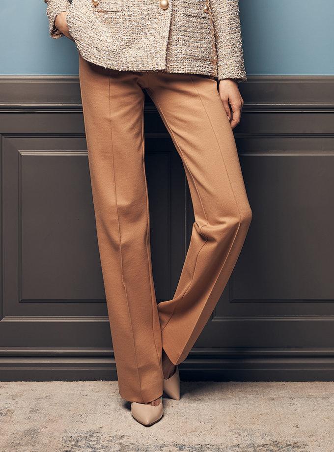 Прямые брюки из джерси SOL_SOW2019T09_outlet, фото 1 - в интеренет магазине KAPSULA
