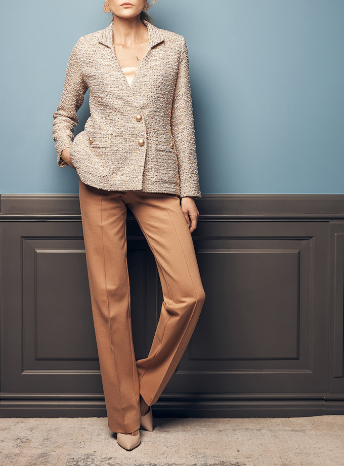 Прямые брюки из джерси SOL_SOW2019T09_outlet, фото 1 - в интернет магазине KAPSULA