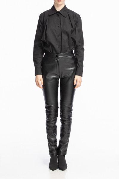 Зауженные брюки из эко-кожи ALOT_030095, фото 1 - в интеренет магазине KAPSULA