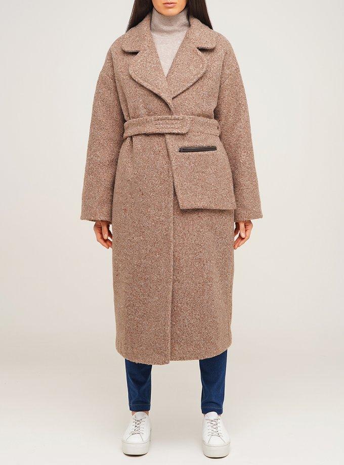 Пальто из шерсти под пояс AY_2875, фото 1 - в интернет магазине KAPSULA