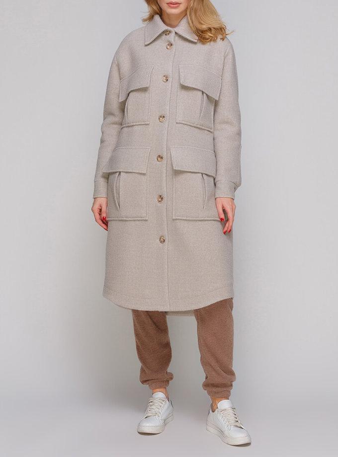 Пальто из шерсти с накладными карманами AY_2889, фото 1 - в интеренет магазине KAPSULA
