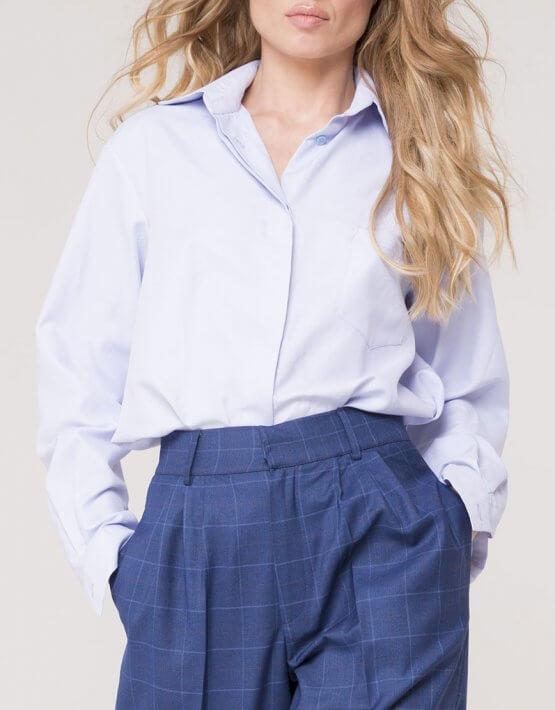 Рубашка классическая из хлопка AD_011119, фото 4 - в интеренет магазине KAPSULA
