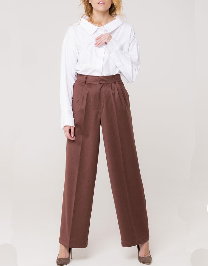 Широкие брюки из шерсти AD_131119, фото 1 - в интеренет магазине KAPSULA