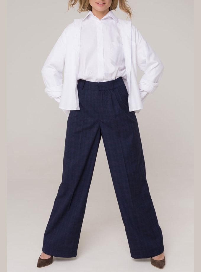 Широкие брюки на высокой посадке AD_141119_outlet, фото 1 - в интеренет магазине KAPSULA