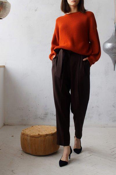 Брюки костюмные из шерсти FRBC_01-BSHBR-brown, фото 1 - в интеренет магазине KAPSULA