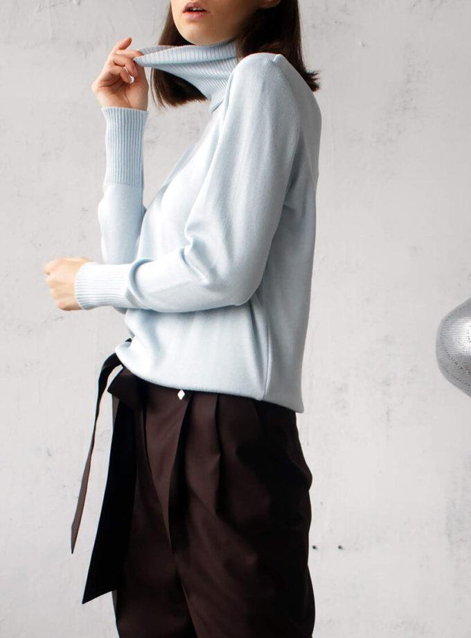 Гольф тонкий на манжетах NBL_02-GTV-blue, фото 1 - в интернет магазине KAPSULA