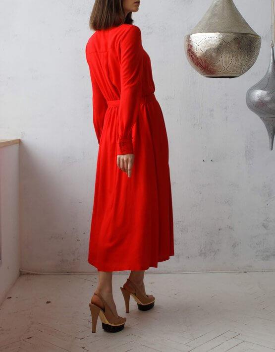 Платье-рубашка миди NBL_09-PMR_outlet, фото 4 - в интеренет магазине KAPSULA